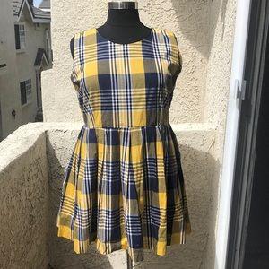 ModCloth fervour plaid dress